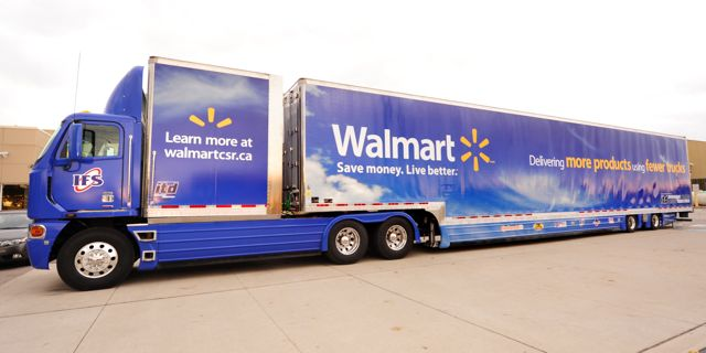 Walmart's new supercube trailer increases cargo capacity by 30%.