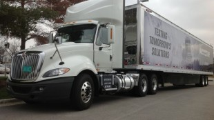 This International ProStar+ day cab with ISX15 engine is one of the first to roll off the assembly line.