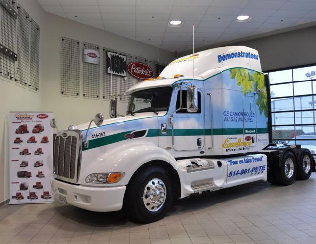 This LNG-fuelled Peterbilt is now available for rent through Excellence Peterbilt.