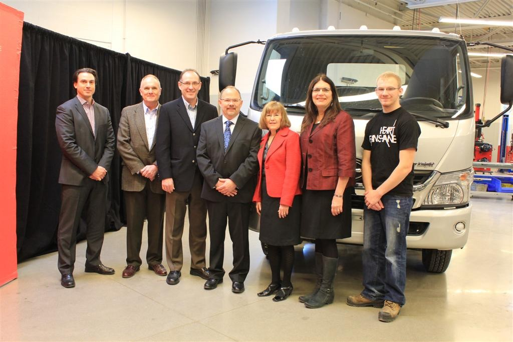 Hino Motors Canada donates a 2012 Hino 155 to Fanshawe College in a ceremony Jan. 8.