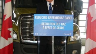 Federal Environment Minister Peter Kent announces Canada will align its GHG standards for heavy trucks with those in the US.