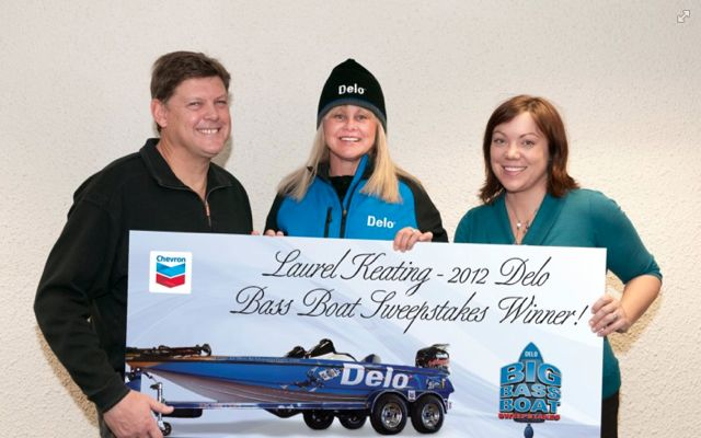 Laurel Keating of Lumby, B.C. won the second annual Chevron Big Bass Boat Sweepstakes.