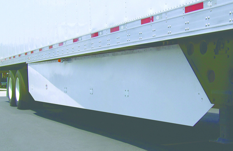 Utility Trailer's new aerodynamic side skirt design - the USS 120A-4 - is US EPA SmartWay-verified to achieve greater than 5% fuel savings, the company says.