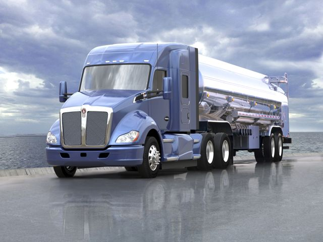The Kenworth T680 with mid-roof sleeper.