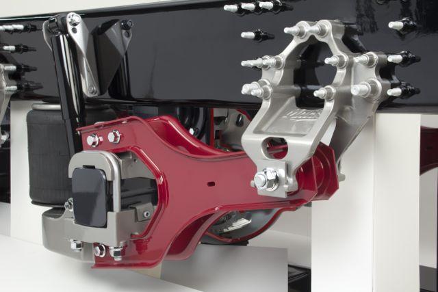 Mack's new Twin Y suspension.