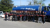 Staff gathered outside Bluewave Energy's Richmond Hill, Ont. facility for the official launch of the company's Ready to Roll automated fleet fueling service earlier today.
