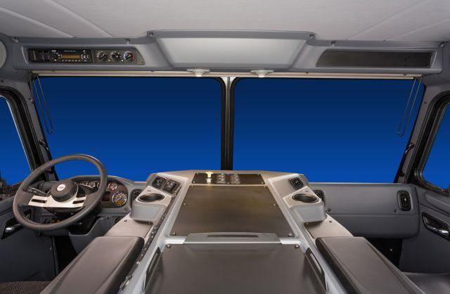 Peterbilt's Model 320 has a new interior.