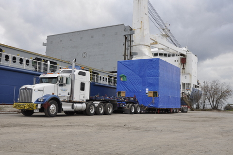 Precision Specialized Division has won SC&RA's Hauling Job of the Year Award for hauling a 110,000-lb Vertical Impregnation Tank (VIT) 180 km from the shipping docks on the shores of Lake Ontario in Oshawa to General Electric's plant in Peterborough.
