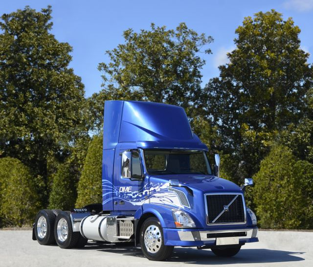 Volvo is commercializing a DME-fuelled VN tractor in 2015.