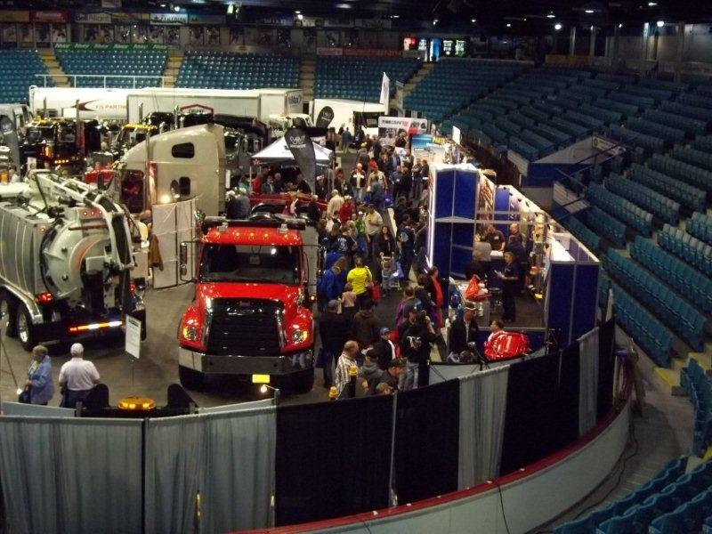 Displays at the 2013 Atlantic Truck Show spanned the entire facility and parking lot at the Moncton Coliseum Complex.