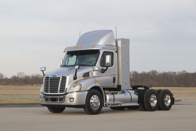 Freightliner's natural gas-powered Cascadia.