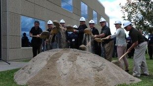 Local dignitaries were on-hand for a groundbreaking ceremony at the new Detroit Reman plant here today.