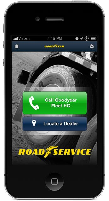 Goodyear has a new app for FleetHQ to make getting roadside assistance easier.