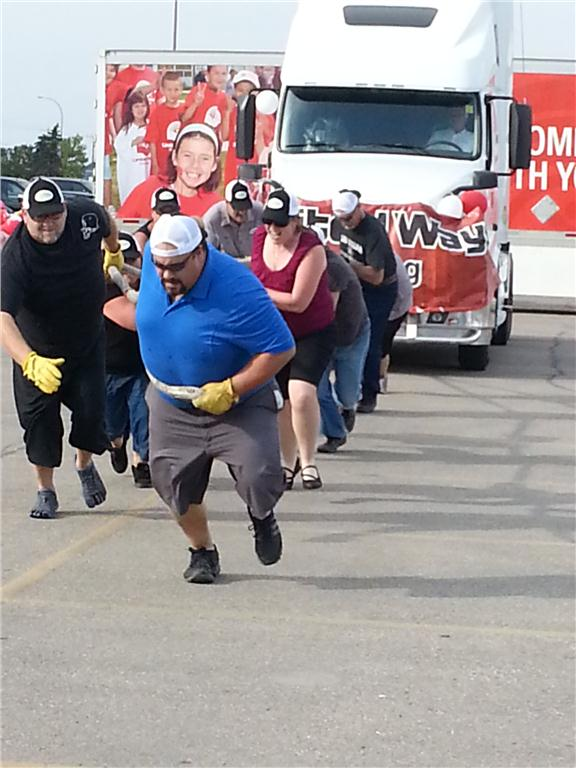 Seven teams from the Manitoba Trucking Association competed in this year's United Way Truck Pull