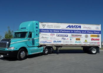 Rosenau has donated this tractor-trailer to the AMTA. It will be used for training purposes and to recognize the association's biggest boosters.