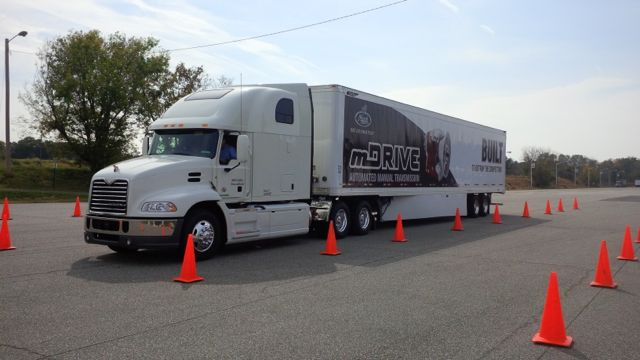 I drove this Mack Pinnacle with Twin Y suspension on the interstate near Allentown.