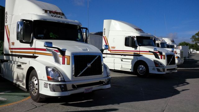 Two new Volvo trucks with I-Shift recently purchased by TMS in Mexico.
