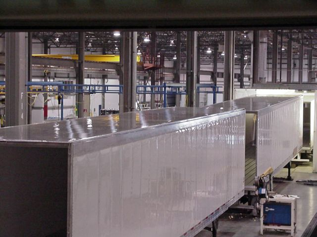 Refrigerated trailers are assembled at Utility's Clearfield, Utah plant.