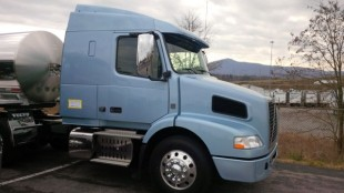 I drove this Volvo VNM for about 100 miles in Virginia, home to some pretty impressive hills, as seen in the background.
