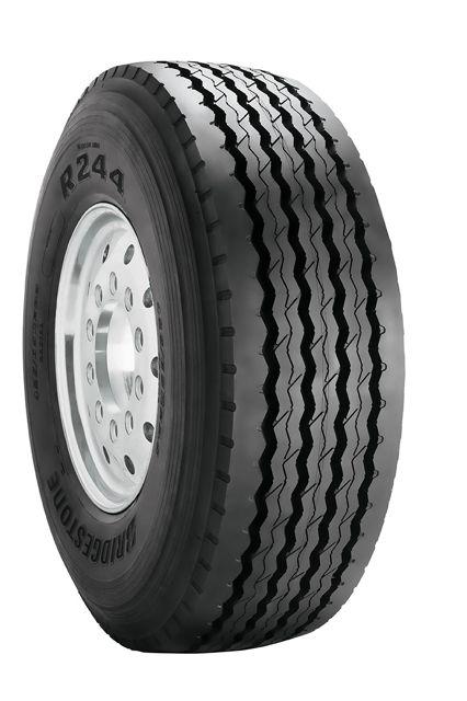 The new Bridgestone R244 tire for dump and mixer fleets.