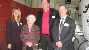 Truck News' Kathy Penner, Hazel McCallion, Mark Seymour, David Bradley