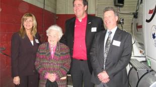 Truck News' Kathy Penner, Hazel McCallion, Mark Seymour, David Bradley