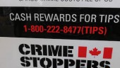 The posters include the 1-800 phone number for reporting tips about crimes and information about stolen property.
