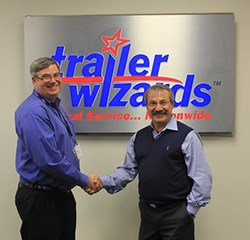 Doug Vanderspek, president of Trailer Wizards, and Tibor Varga, president of Max-Atlas Equipment International Inc.