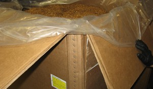 One of the boxes of loose tobacco seized from Jean-Franois Beaulieu's truck.