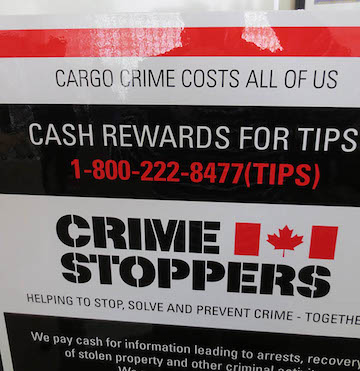 Crime Stoppers is dedicating itself to cargo theft this year, which will hopefully lead to more arrests.