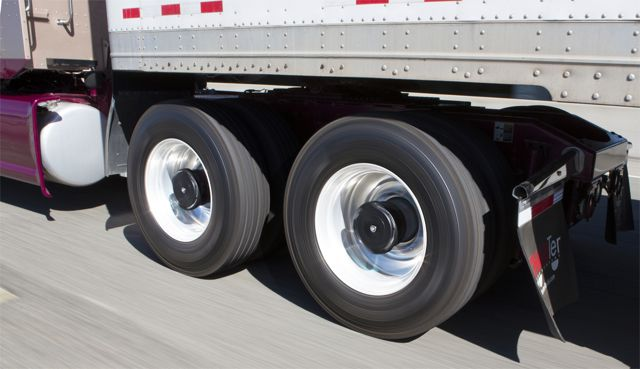 Aperia's new Halo tire inflation system doesn't tap into the truck's air system, instead deriving power from the rotational motion of the wheels.