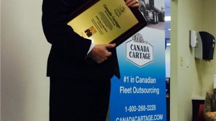 Brampton mayor Susan Fennell makes a presentation to Canada Cartage