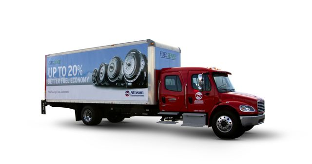 Allison and Freightliner jointly introduced a new transmission package they say can improve fuel mileage by 20%.