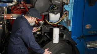 Oil changes are among the services offered through Michelin's new Truck Care program.