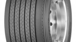 A new wide-base single trailer tire offering 15% better removal mileage was introduced at MATS.