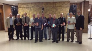All of the winners present at the Kitchener & District Driver Awards Banquest