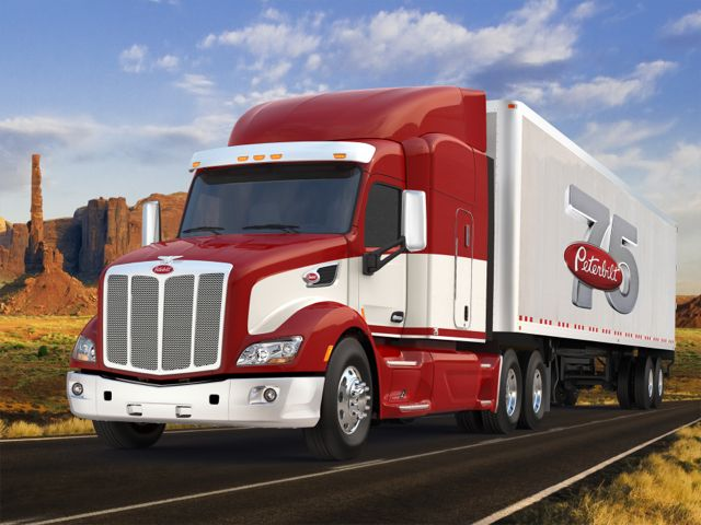 Peterbilt is offering a 75th Anniversary Edition Model 579.