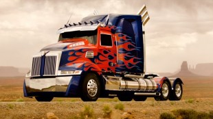 Optimus Prime hints at design elements that will be unveiled on a new aero Western Star later this year.
