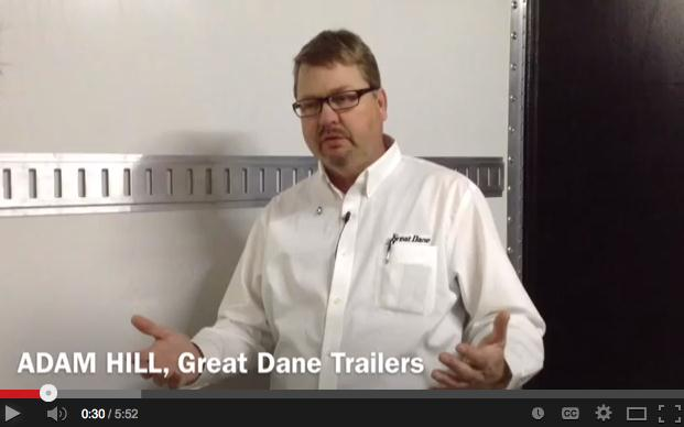 Great Dane's Adam Hill explains the trailer's features.