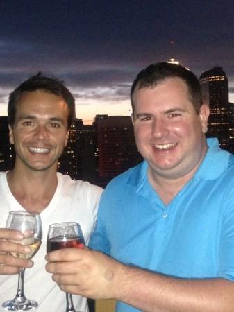 Ben Rouillard and me in Calgary.