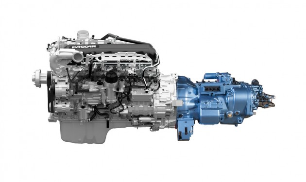 The Paccar MX engine with the Full Advantage 10-speed automated transmission.