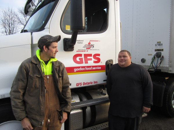 Wade Evans and Steven Sault, KRTS students pictured with a training unit.