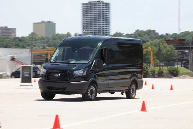 The Ford Transit is put through its paces. Photo by David Freers/Ford Motor Company.
