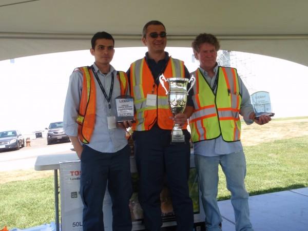 L-R: Imran Ughradar, third place; Carmine Pagliaro, champion; and Ron Francis, second place.