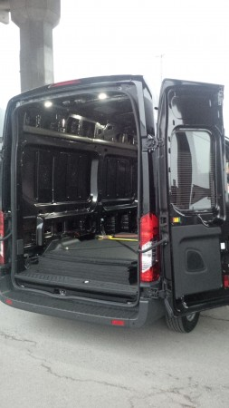 The rear doors swing out a full 270 degrees to provide easy access to cargo.