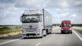 The autonomous truck in action.