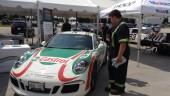 Checking out the Porsche