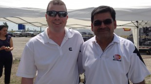 Greg Webster from Cummins Filtration with Shishpal Mangat of Quick Truck Lube