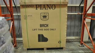 York Regional Police recover as stolen piano as part of a cargo theft investigation.