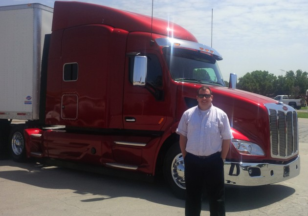James Menzies drove this Peterbilt Model 579 with EPIQ package in northern Texas.